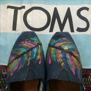 COPY - COPY - Toms Peacock Print Shoes